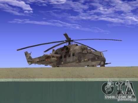 Mi-24 de COD MW 2 para GTA San Andreas traseira esquerda vista