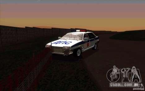 Vaz 21099, polícia para GTA San Andreas vista traseira