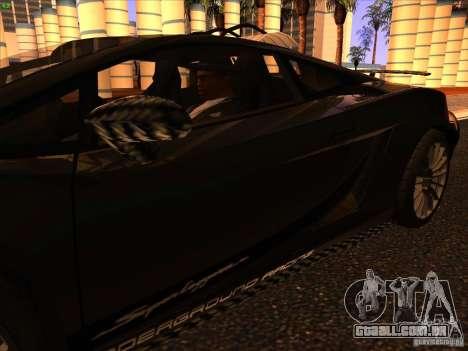 Lamborghini Gallardo Underground Racing para GTA San Andreas vista inferior