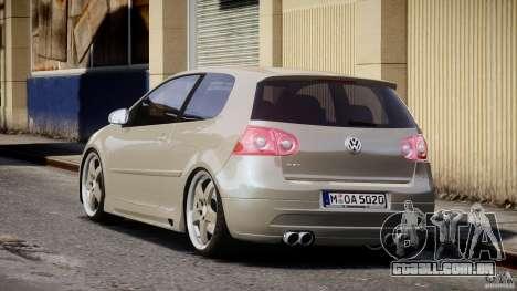 Volkswagen Golf GTI 2006 v1.0 para GTA 4 traseira esquerda vista