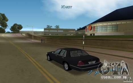 Ford Crown Victoria para GTA Vice City vista direita