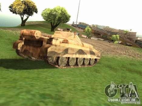 Crusader Mk. III para GTA San Andreas traseira esquerda vista