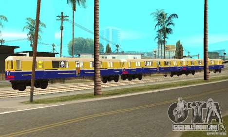 Liberty City Train Italian para GTA San Andreas esquerda vista