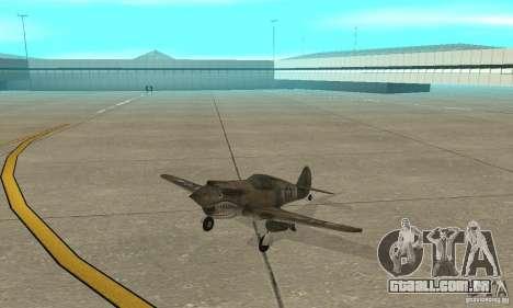 P-35 para GTA San Andreas esquerda vista