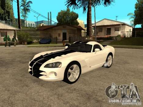 Dodge Viper Coupe 2008 para GTA San Andreas vista inferior