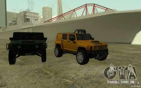 Hummer H3R para GTA San Andreas vista superior