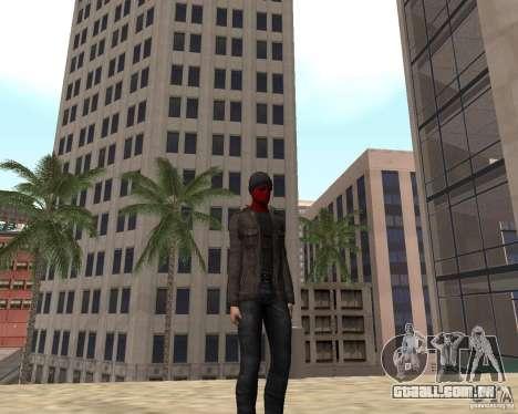 Spider Man para GTA San Andreas por diante tela