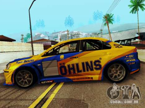 Mitsubishi Lancer Evolution para GTA San Andreas vista interior