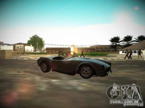 Shelby Cobra para GTA San Andreas esquerda vista