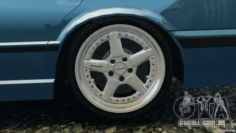 BMW E34 V8 540i para GTA 4 vista superior