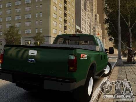 Ford F-250 FX4 2009 para GTA 4 esquerda vista
