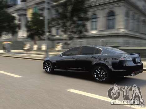 Pontiac G8 GXP para GTA 4 vista de volta