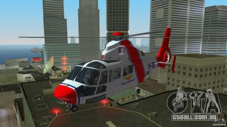 Eurocopter As-365N Dauphin II para GTA Vice City deixou vista