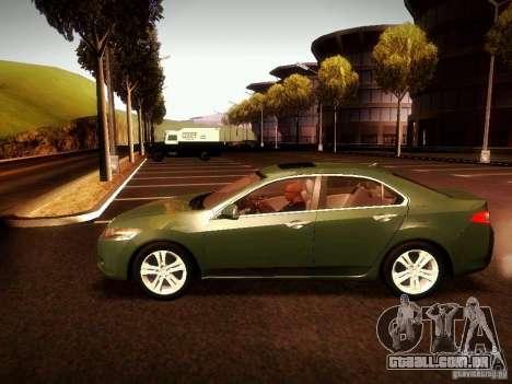 Acura TSX para GTA San Andreas vista direita