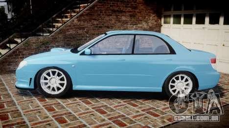 Subaru Impreza WRX STI Spec C Type RA-R 2007 para GTA 4 esquerda vista