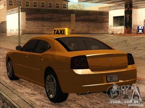 Dodge Charger STR8 Taxi para GTA San Andreas vista direita
