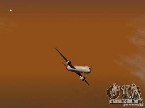 Boeing 787 Dreamliner Qantas para GTA San Andreas vista superior