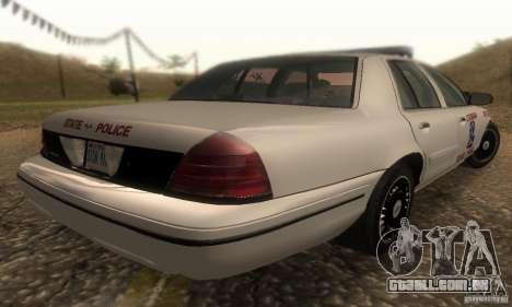 Ford Crown Victoria Louisiana Police para GTA San Andreas esquerda vista