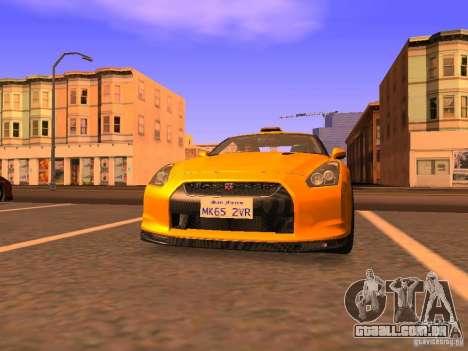 Nissan GT-R SpecV Black Revel para GTA San Andreas esquerda vista