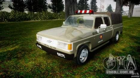Chevrolet D20 Brigada Militar RS para GTA 4 vista de volta