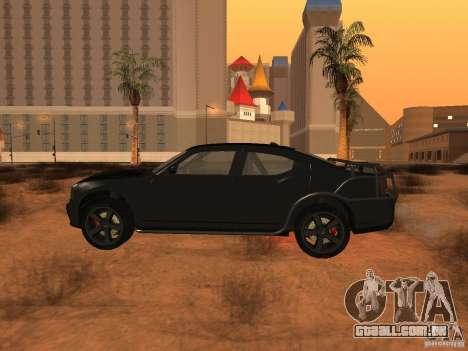 Dodge Charger Fast Five para GTA San Andreas esquerda vista