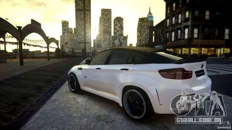 BMW X 6 Hamann para GTA 4 esquerda vista