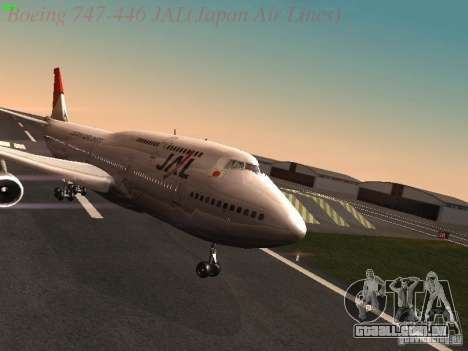 Boeing 747-446 Japan-Airlines para GTA San Andreas
