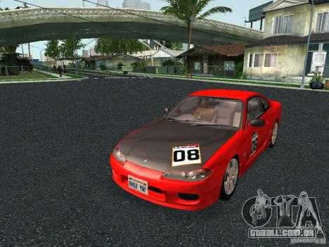 Nissan Silvia S15 Tunable para GTA San Andreas traseira esquerda vista