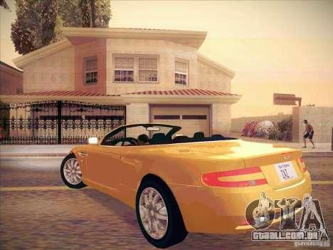 Aston Martin DB9 Volante v.1.0 para GTA San Andreas vista direita