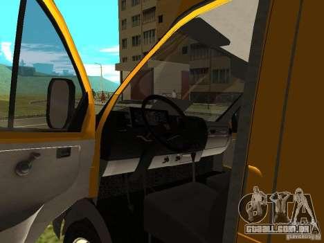 GÁS SPV ruta-16 para GTA San Andreas vista traseira