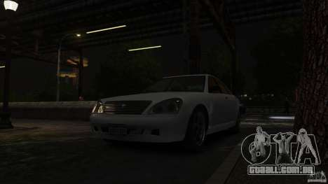 Schafter LT para GTA 4 vista de volta