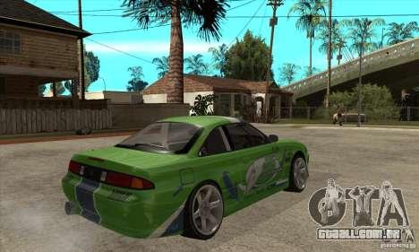 Nissan Silvia S14a JardinE Drift para GTA San Andreas vista direita