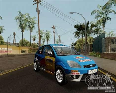 Ford Fiesta ST Rally para GTA San Andreas traseira esquerda vista