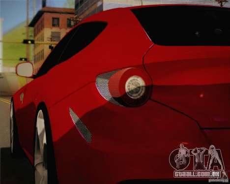 Ferrari FF Sport 2011 para GTA San Andreas vista interior