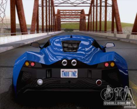 Marussia B2 2010 para GTA San Andreas vista direita