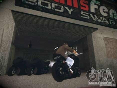 Aprilia RSV4 para GTA San Andreas traseira esquerda vista
