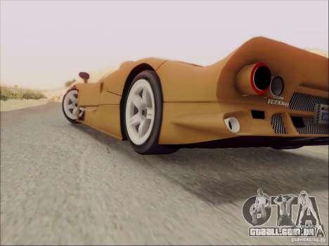 Nissan R390 Road Car v1.0 para GTA San Andreas vista interior