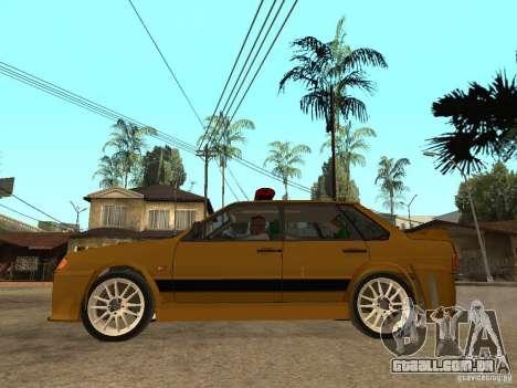 VAZ 2115 polícia carro Tuning para GTA San Andreas esquerda vista