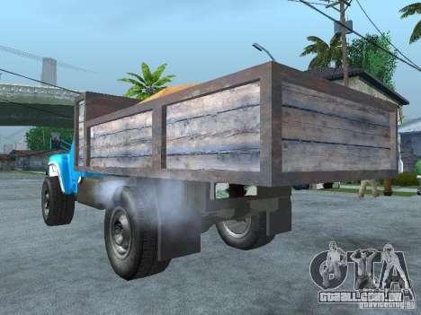 Caminhão de lixo ZIL 130 para GTA San Andreas esquerda vista