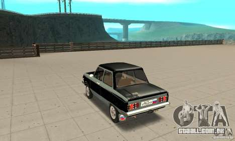 ZAZ 968M versão 1.0 para GTA San Andreas traseira esquerda vista