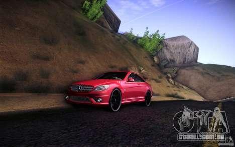 Mercedes Benz CL65 AMG para GTA San Andreas traseira esquerda vista