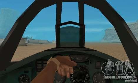 MiG-31 Foxhound para GTA San Andreas vista traseira