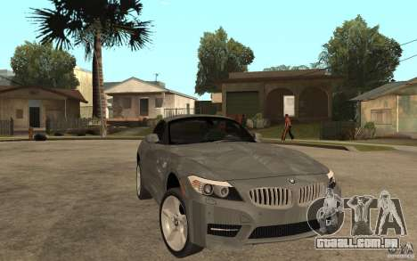 BMW Z4 sdrive35is 2011 para GTA San Andreas vista traseira