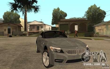 BMW Z4 sdrive35is 2011 para GTA San Andreas vista traseira