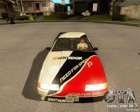 Need for Speed Elegy para GTA San Andreas interior