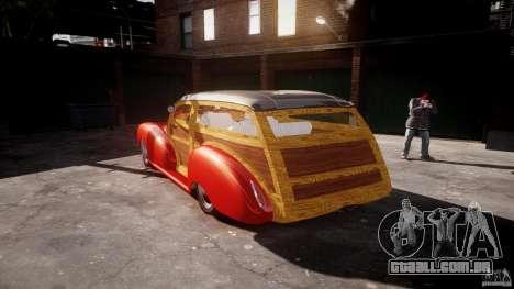 Chevy Fleetmaster Woody Kustom 1948 para GTA 4 vista lateral
