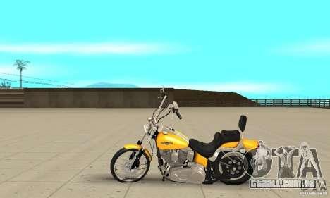 Harley Davidson softail Skin 1 para GTA San Andreas esquerda vista