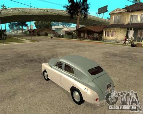 GAZ M20 Pobeda para GTA San Andreas esquerda vista