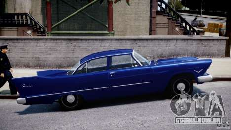 Plymouth Savoy Club Sedan 1957 para GTA 4 vista interior