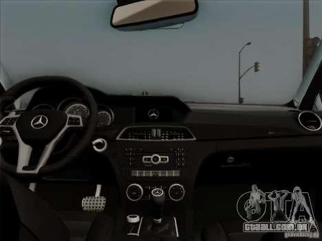 Mercedes Benz C63 AMG Coupe Presiden Indonesia para GTA San Andreas vista interior